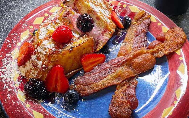 stuffed french toast breakfast at the overlook inn